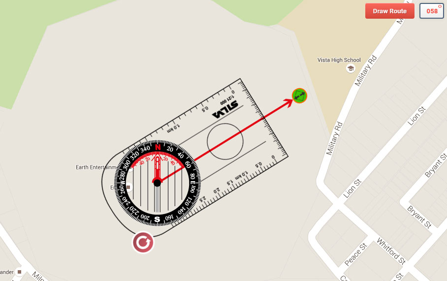 Manual resizing of the OpenStreetMap Compass direction of travel arrow